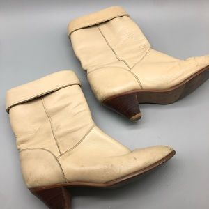 Vintage 1970's Frye cuffed slouchy heeled boots